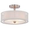 This item: Harrow Brushed Nickel Three-Light Drum Semi-Flush Mount