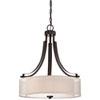 This item: Harrow Bronze Three-Light Drum Pendant