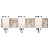 This item: Long Beach Chrome and Natural Shell Three-Light Vanity
