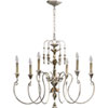 This item: Bouverie French White Six-Light Chandelier
