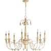 This item: Bouverie French White Eight-Light Chandelier