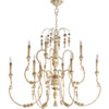 This item: Bouverie French White Nine-Light Chandelier