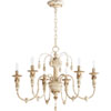 This item: Bouverie French White 25-Inch Six-Light Chandelier