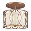 This item: Coco Silver Gold Three-Light Drum Semi-Flush Mount