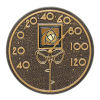 This item: Amber Dard Hunter Rose French Bronze Indoor Outdoor Wall Thermometer