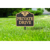 This item: Black Gold Private Drive Sign  Cast Aluminum Wall or Lawn Mounting