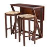 This item: Harrington 3-Piece Drop Leaf High Table, 2-29-Inch Rush Seat Stools