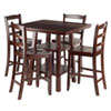 This item: Orlando 5-Piece Set High Table, 2 Shelves with 4 Ladder Back Stools