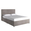 This item: Jaeger Gray Full Storage Platform Bed with Channel Headboard