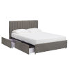 This item: Jaeger Gray Queen Storage Platform Bed with Channel Headboard