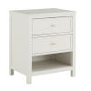 This item: Shayna White Two-Drawer Nightstand