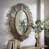 This item: Brigid Reclaimed Wood Oval Sunburst Wall Mirror