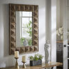 This item: Fisher Reclaimed Wood Rectangular Geometric Faceted Wall Mirror
