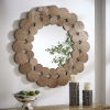 This item: Katherine Natural Reclaimed Wood 39-Inch Round Wall Mirror