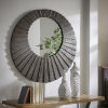 This item: Virginia Dark Brown Reclaimed Wood 39-Inch Round Seashell Wall Mirror