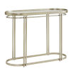 This item: Samantha Champagne Silver Oval Antique Mirror Top Sofa Table