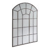 This item: Laurel Bronze Arched Windowpane Wall Mirror