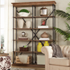 This item: Lubeck Vintage Oak Bookshelf