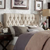 This item: Metson Button Tufted Full Headboard