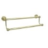 This item: Satin Brass 36-Inch Double Towel Bar