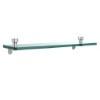 This item: Foxtrot Satin Chrome Single Shelf with Towel Bar