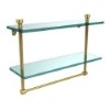 This item: Foxtrot Polished Brass Double Shelf with Towel Bar