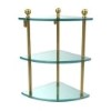 This item: Polished Brass Mambo Collection Triple Corner Glass Shelf
