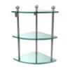 This item: Polished Nickel Triple Corner Glass Shelf