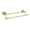 This item: Que New Polished Brass 18-Inch Double Towel Bar