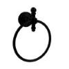 This item: Retro Wave Matte Black Towel Ring