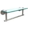 This item: Satin Nickel Single Shelf with Towel Bar