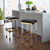 This item: Radnor Black with Gold Barstool