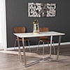 This item: Wrexham Gray with Brushed Nickel Dining Table