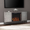 This item: Hollesborne Gray and gunmetal gray Electric Fireplace with Media Storage