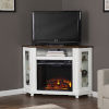 This item: Dilvon White and brown Electric Fireplace with Media Storage