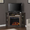 This item: Austindale Light Brown Corner Electric Fireplace with Media Storage