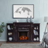 This item: Chantilly Espresso Electric Fireplace with Bookcase