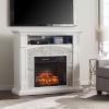 This item: Seneca Crisp White Electric Media Fireplace