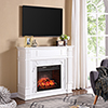 This item: Highgate White with Gray Veined White Faux Marble Infrared Fireplace