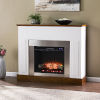 This item: Eastrington White and Dark Tobacco Electric Fireplace