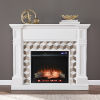 This item: Darvingmore White Electric Fireplace with Marble Surround