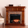 This item: Merrimack Buckeye Oak Electric Convertible Fireplace with Faux Stone
