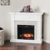 This item: Merrimack Fresh White Electric Convertible Fireplace with Faux Stone