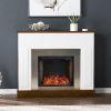 This item: Eastrington White and Dark Tobacco Alexa Smart Fireplace