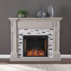 This item: Birkover Multi-Color Alexa Smart Fireplace with Marble Surround
