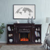 This item: Chantilly Espresso Electric Smart Fireplace with Bookcase