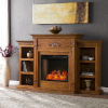 This item: Tennyson Glazed pine Electric Fireplace with Alexa-Enabled Smart and Bookcase