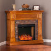 This item: Rosedale Sienna Convertible Smart Electric Fireplace with Faux Stone