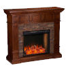 This item: Merrimack Buckeye Oak Smart Convertible Electric Fireplace with Faux Stone