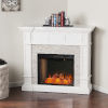 This item: Merrimack Fresh White Smart Convertible Electric Fireplace with Faux Stone